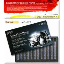 MPL12C fekete 12 db-os félkemény pasztell szett
