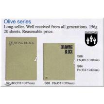 Rajztömb 532x377mm Olive - MARUMAN S2