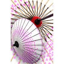 Japán napernyő 3. fehér/magenta KIT-PAR