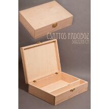 Nyír csattos doboz osztóval