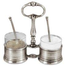 CT7130 ón/üveg só/bors szett kanállal Cosi Tabellini - csak személyes átvétellel