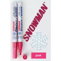 Lakkfilc FCP pink Snowman - rózsaszín