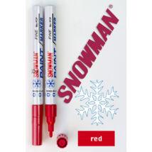 Lakkfilc FCP red Snowman - piros