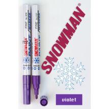 Lakkfilc FCP violet Snowman - lila