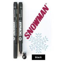 Alkoholos filc OPF black Snowman - fekete
