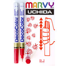 Lakkfilc DecoColor red - tűhegyű piros