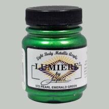 Akrilfesték 70ml Lumiere Jacquard - 572 Pearl emerald green