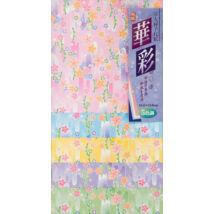 Origami 15cm 25ív Yuzen mintás - Sakura virágos