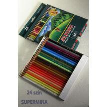 Színesceruza 24db Supermina Alpino
