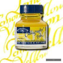 Rajztinta 30ml Calligraphy Winsor - Lemon yellow