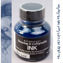 Kalligráf/rajztinta 30ml Diamine - Blue black