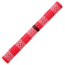 Ecsettartó bambusztekercs Akashiya - piros