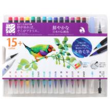 Akvarell ecsettoll 15+1 szett Akashia SAI - élénk színek