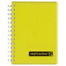 Notesz B7/70lap vonalas PP borítású Maruman sárga