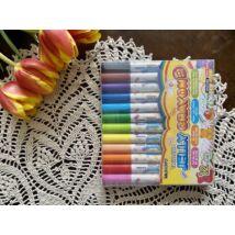 Csavarós viaszkréta 16db-os Mungyo Jelly Crayon