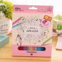 Színes ceruza 48 darabos szett Aihao