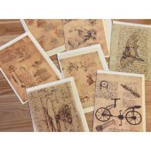 Borítékos képeslap Leonardo