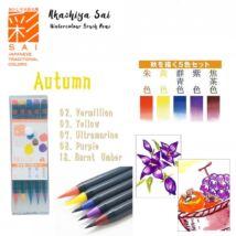 Akvarell ecsettoll 5db-os szett Akashia Sai - Autumn