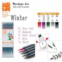 Akvarell ecsettoll 5db-os szett Akashia Sai - Winter
