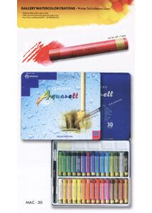 30 db-os akvarellkréta szett - MAC30 fém dobozban