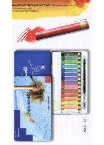 15 db-os akvarellkréta szett - MAC15 fém dobozban