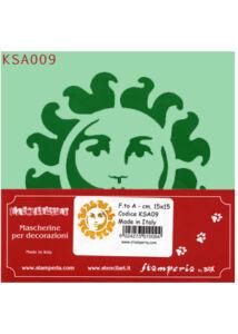 Stencil 15x15cm KSA009