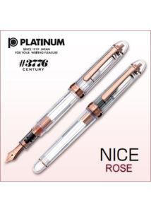 Töltőtoll PNB-20000R Nice RoseGold Platinum - F Csak bolti átvétel
