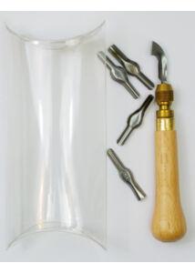 Linokészlet 5 kés fa nyéllel TIF20153