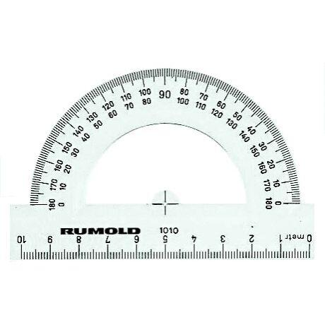 Szögmérő 10cm-es 180°-os 1010 Rumold