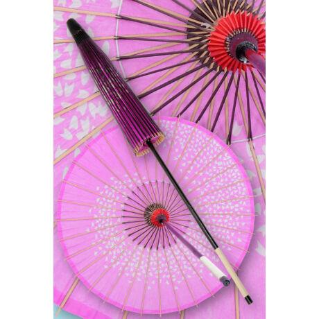 Japán napernyő magenta/fehér KIT-PAR