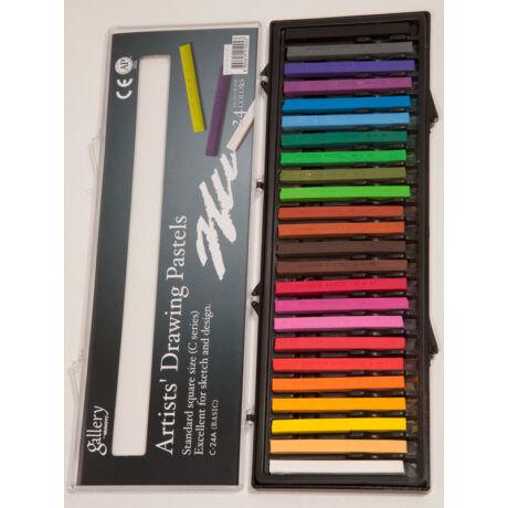 Rajzkrétaszett 24db alapszín Mungyo Drawing Pastel C24A