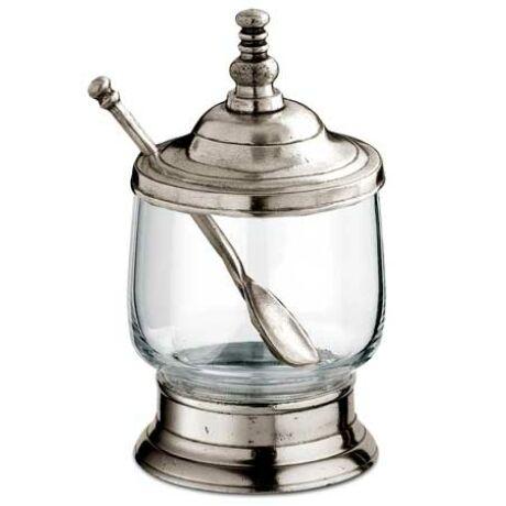 CT8310 Ón/üveg fedeles tálka kanállal Cosi Tabellini