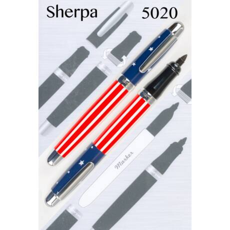 Sherpa tolltest + Sharpie marker - 5020 Ole Glory