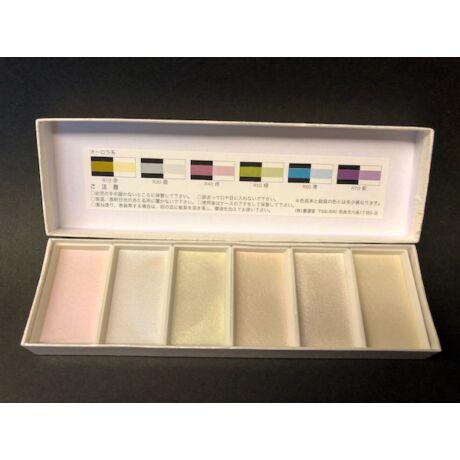 Akvarellszett 6 szín Gansai - Irizáló színek No.15501