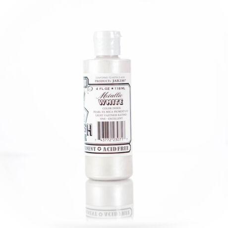 Akrilfesték 118ml Airbrush Jacquard - 307 Metalic White