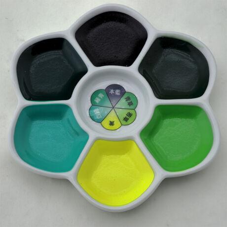 Akvarellszett 6 szín sziromtálban Gansai - Forest green