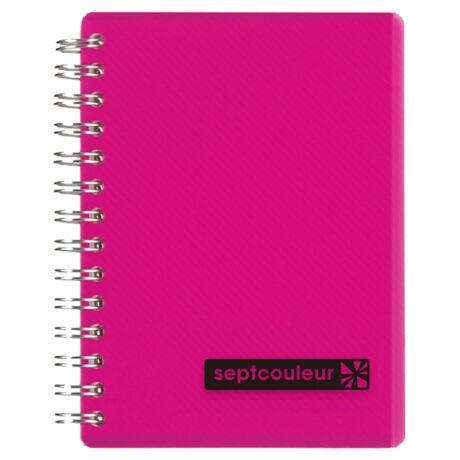 Notesz B7/70lap vonalas PP borítású Maruman pink
