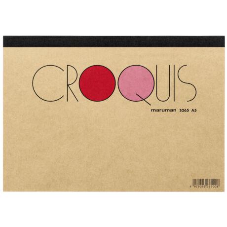 Rajzltömb A5/60lap Cream Croquis Maruman S265