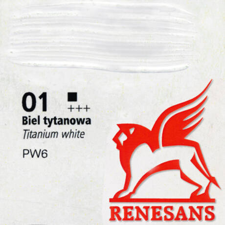 Akrilfesték 60ml Maxi Renesans - 01 Titanium white