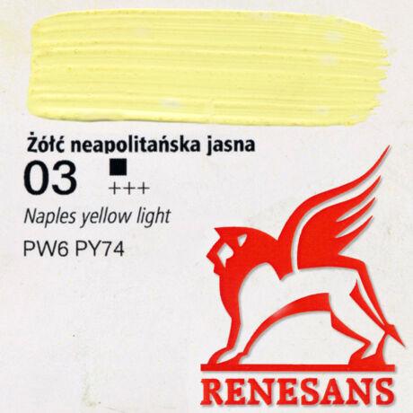 Akrilfesték 60ml Maxi Renesans - 03 Naples yellow light