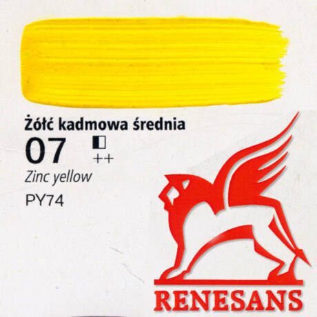 Akrilfesték 60ml Maxi Renesans - 07 Zinc yellow