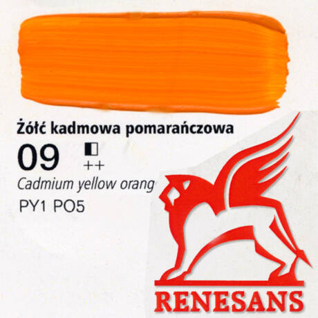 Akrilfesték 60ml Maxi Renesans - 09 Cadmium yellow orange