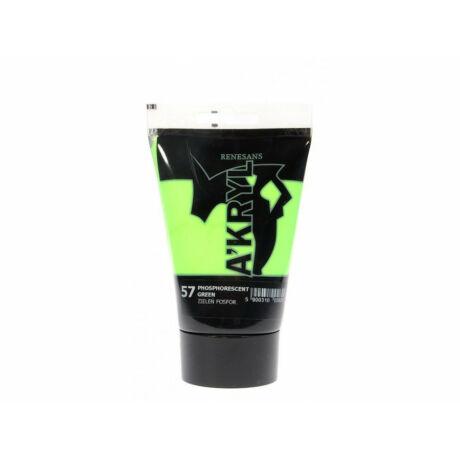 Akrilfesték 100ml Renesans - 57 Phosphorescent green