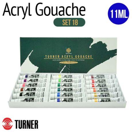 Akrilszett 18x11ml Acryl Gouache Turner