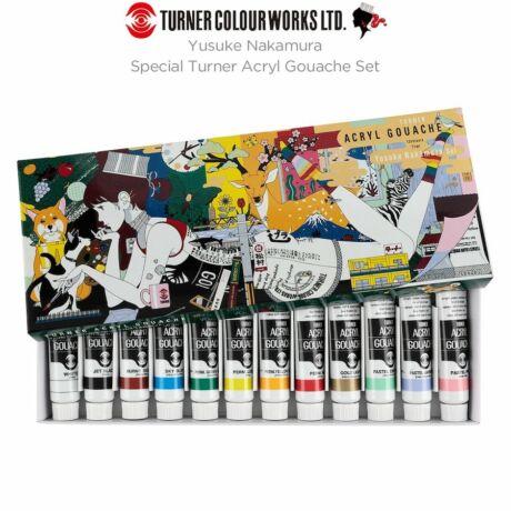 Akrilszett 12x11ml Acryl Gouache Turner - Yusuke Nakamura