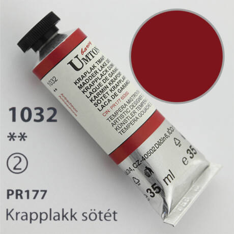Gouache 35ml Umton - 1032 Krapplakk (sötét)