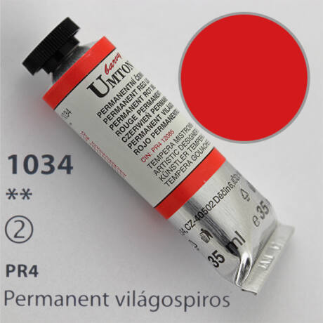 Gouache 35ml Umton - 1034 Permanent világospiros