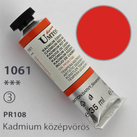 Gouache 35ml Umton - 1061 Kadmium középvörös