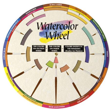 Akvarell színkerék Color Wheel ACW3459
