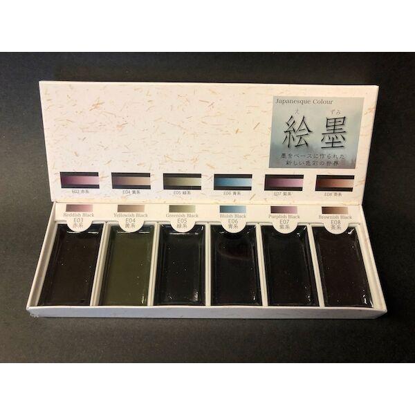 Akvarellszett 6 szín Gansai - Japán színek